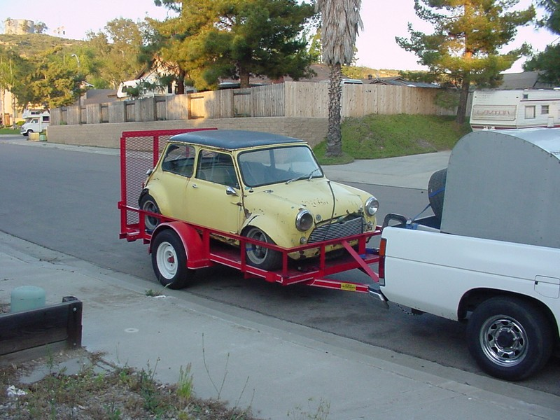 Here Are The Pics Of Trailer And Mini Cooper That My Poor Little Nissan Had To Tow Home